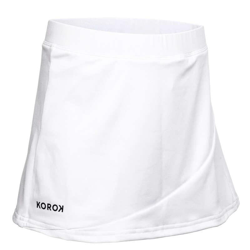 APPAREL FIELDHOCKEY Field Hockey - Girls' Skirt FH500 - White KOROK - Field Hockey