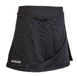 Falda de hockey sobre hierba niña FH100 negro
