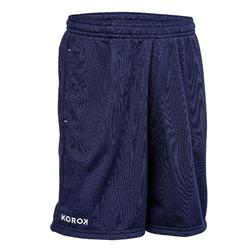 Pantalón corto de hockey sobre hierba niño FH100 azul