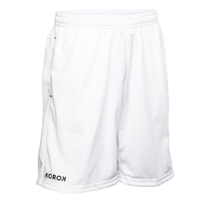 Hockeyshort voor jongens FH100 wit