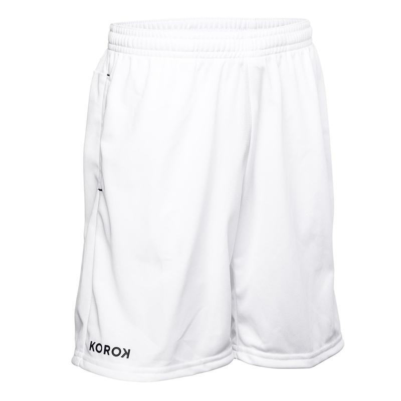 FH100 Boys' Field Hockey Shorts - White