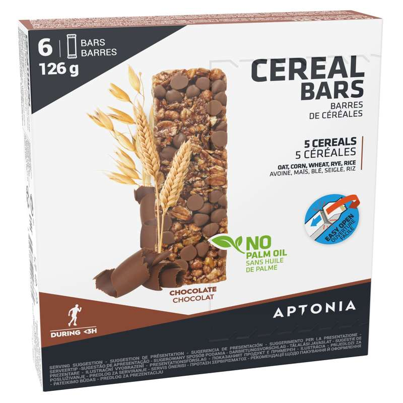 BARS, GELS & AFTER Running - Cereal bar x 6 - chocolate APTONIA - Running