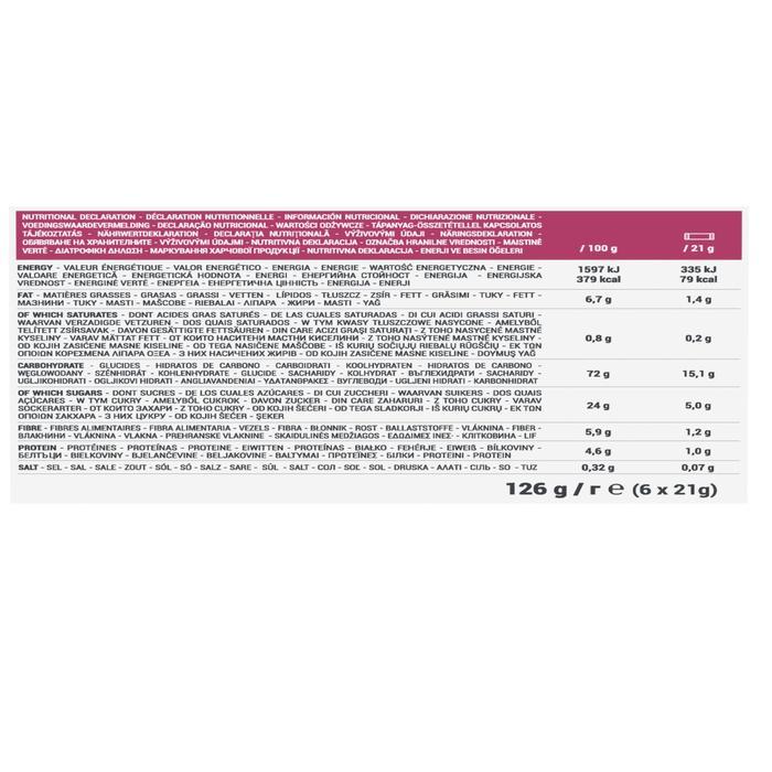 Graanrepen Clak rode vruchten 6 x 21 g