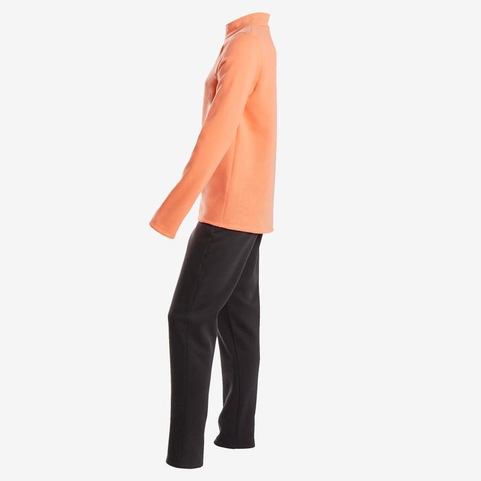 Trainingsanzug 100 Warmy Zip Gym Kinder rosa