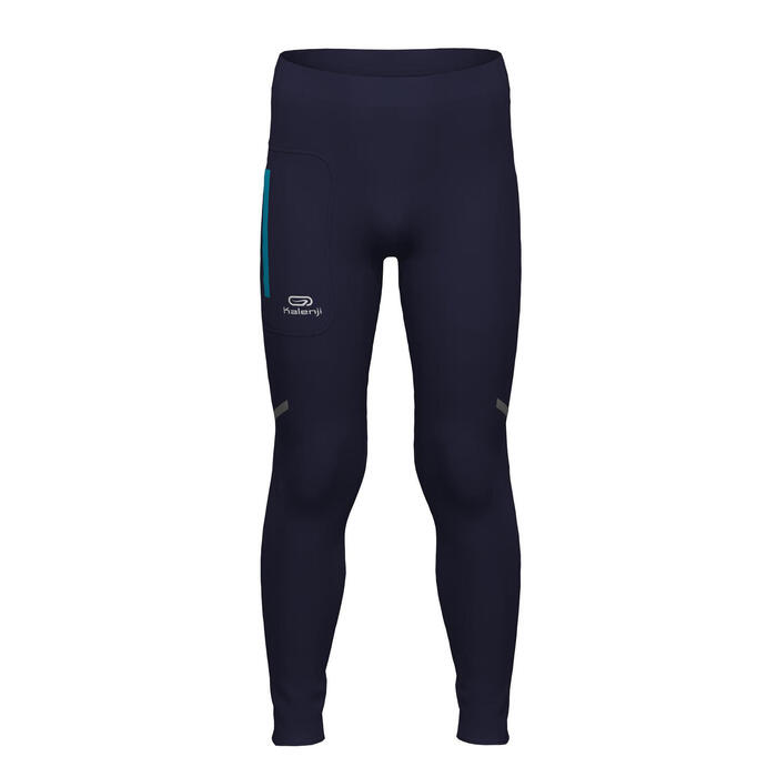 Kids' Athletics Tights Kalenji AT 100 - navy blue