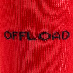 Hoge rugbysokken voor kinderen R500 rood