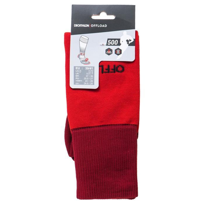 Chaussettes hautes de rugby R500 rouge