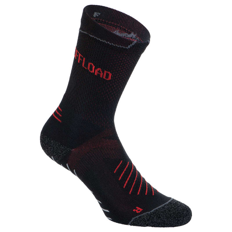 APPAREL RUGBY MEN Rugby - Mid Socks R500 - Black OFFLOAD - Rugby Clothing