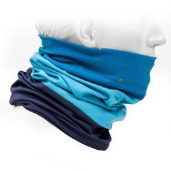 Dual-Fabric Neck Warmer 500 - Camaïeu Blue