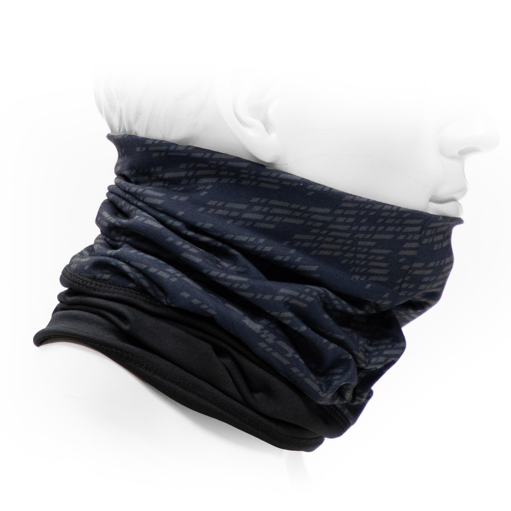 Nouveau multi usage morf micro polaire hiver snood écharpe cou chaud noir blanc marine