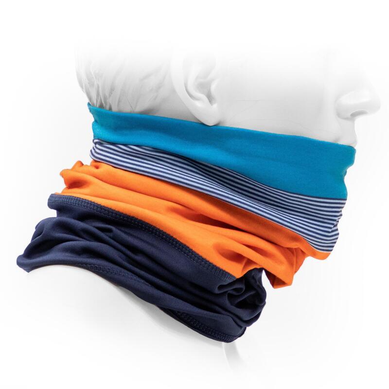 Dual-Fabric Neck Warmer 500 - Blue/Orange