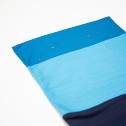 Nekwarmer in 2 materialen voor fietsen 500 blauwtinten