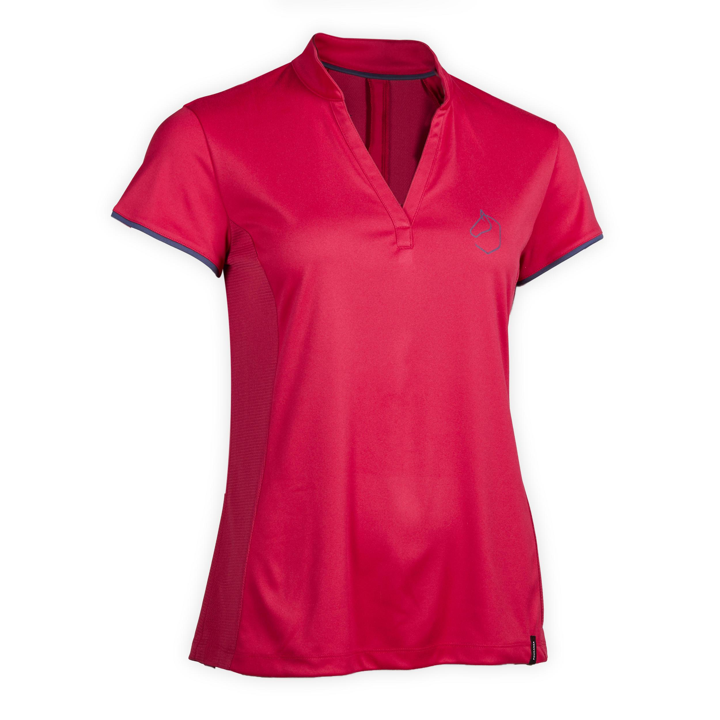 Tricou Polo 500 MESH roz Damă