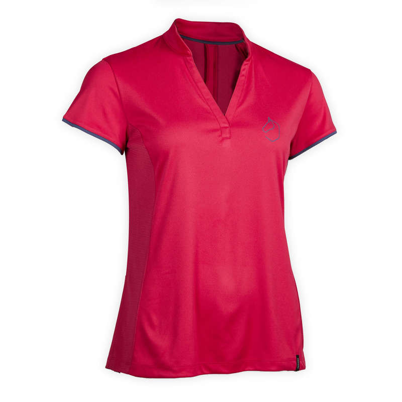 Női nyári ruházat Lovaglás - Lovaglópóló 500-as, mesh FOUGANZA - Lovaglás