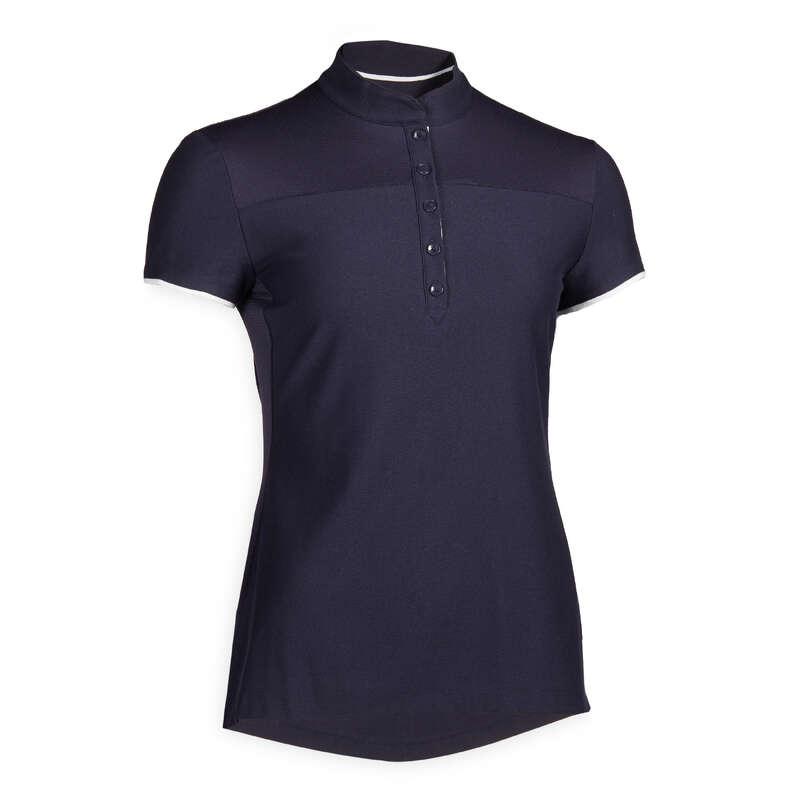 Îmbrăcăminte echitație damă Echitatie - Tricou Polo mesh 500 Damă FOUGANZA - Echitatie