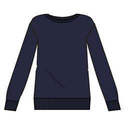 Trainingssweater dames 120 marineblauw