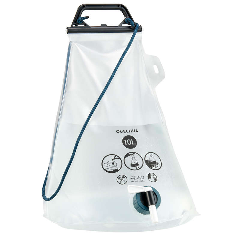 HIKING CAMP LAMPS, HYGIENE, Camping - 10 L jerrycan QUECHUA - Camping Furniture and Equipment