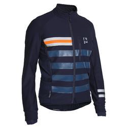 男款自行車冬季外套RC500 - 軍藍色