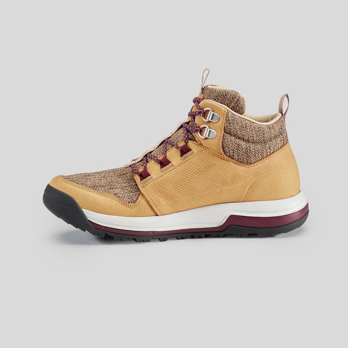 Chaussures de randonnée nature NH500 mid Imperméable beige femme