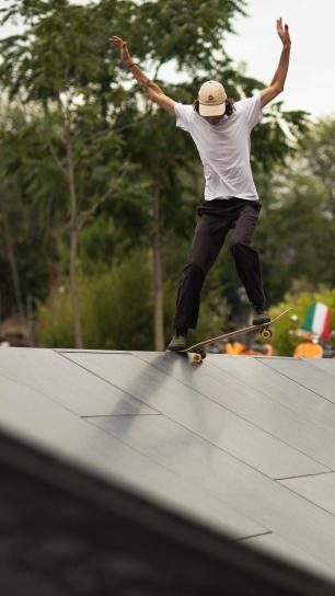 skate wheels adherence wall ride