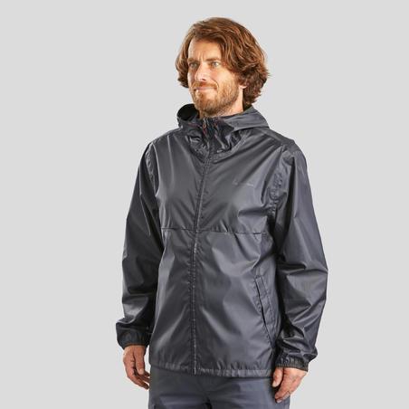 Impermeable senderismo naturaleza  - NH100 Raincut Cierre Entero - Hombre