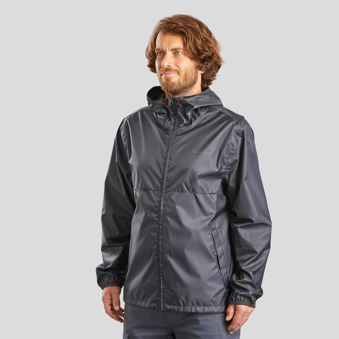 Men's country walking rain jacket - NH100 Raincut Full Zip