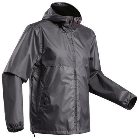 Jaket hujan country walking Pria - NH100 Raincut Full Zip