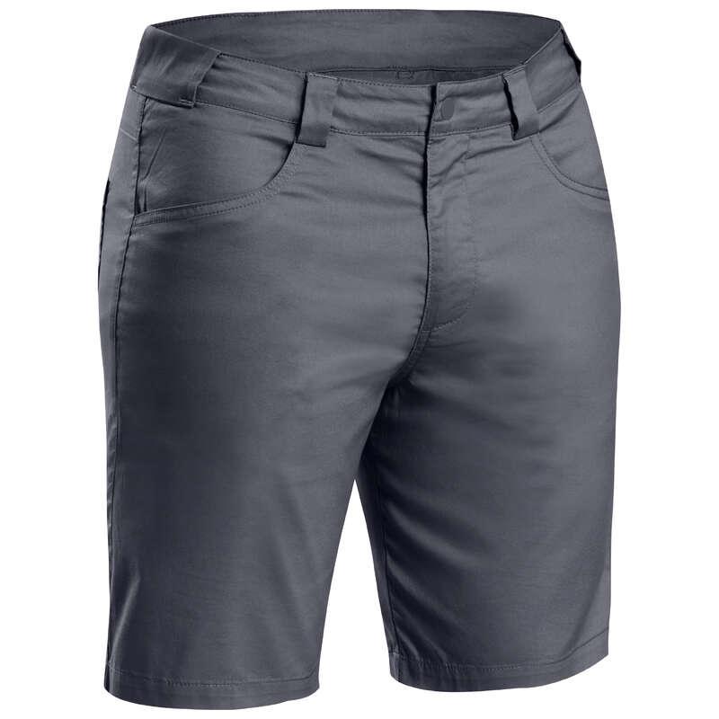 MEN NATURE HIKING SHORTS/T-SHIRTS - Shorts NH100 Fresh - Black