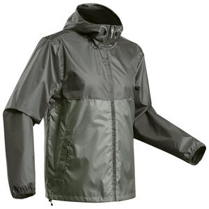 Men's's off-road hiking raincoat - NH100 Raincut Full Zip