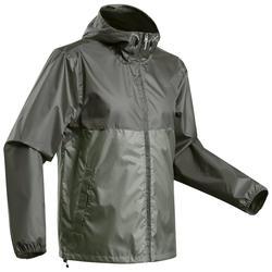 Men's's off-road hiking raincoat - NH100 Raincut Full Zip