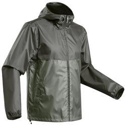 Regenjas voor natuurwandelen heren NH100 Raincut Full Zip