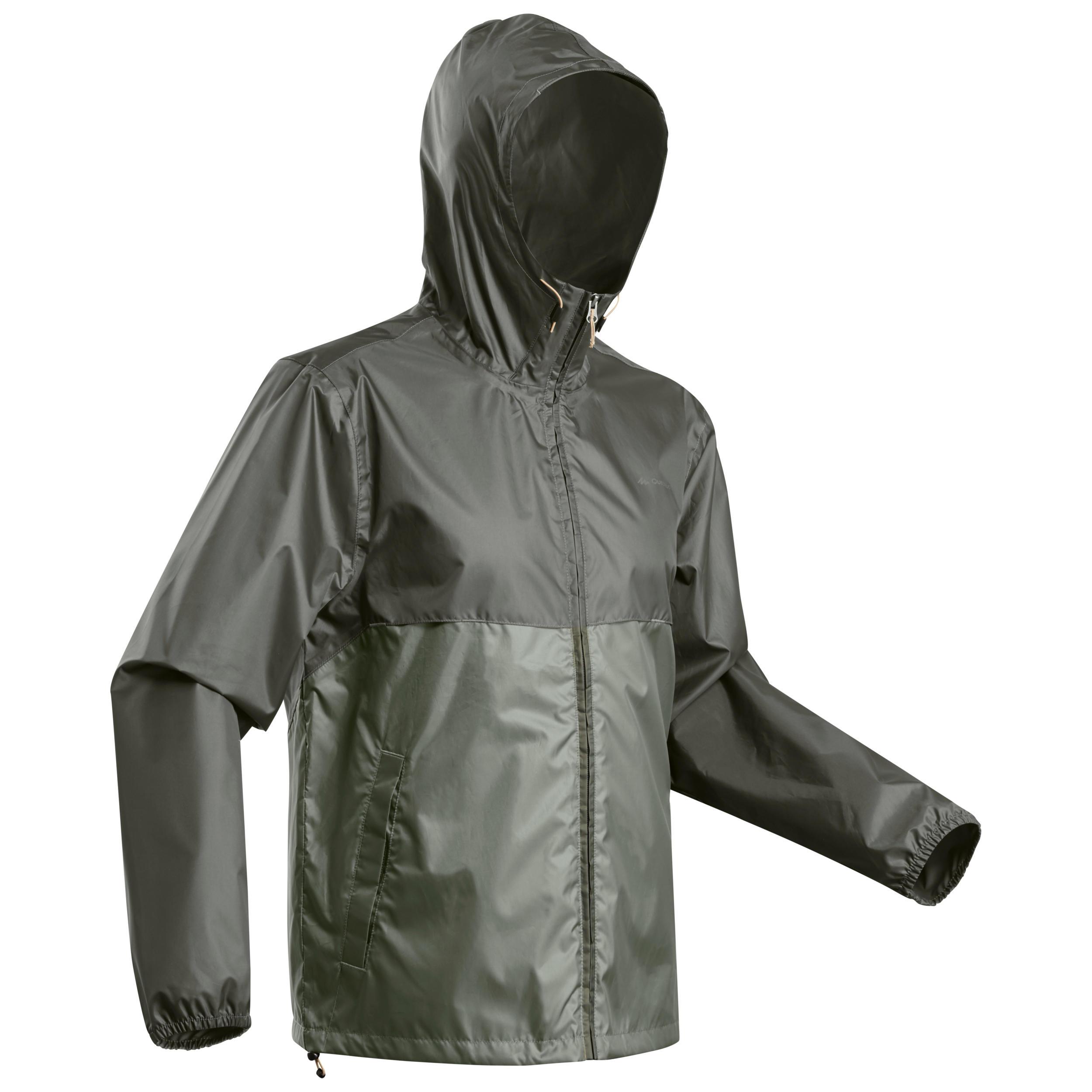 Regenjacke Naturwandern NH100 Raincut Full Zip Herren | Sportbekleidung > Sportjacken > Regenjacken | Quechua