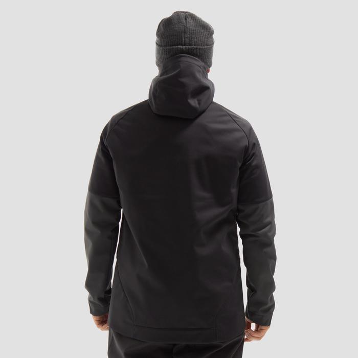 Hoodie voor snowboarden/skiën heren zwart