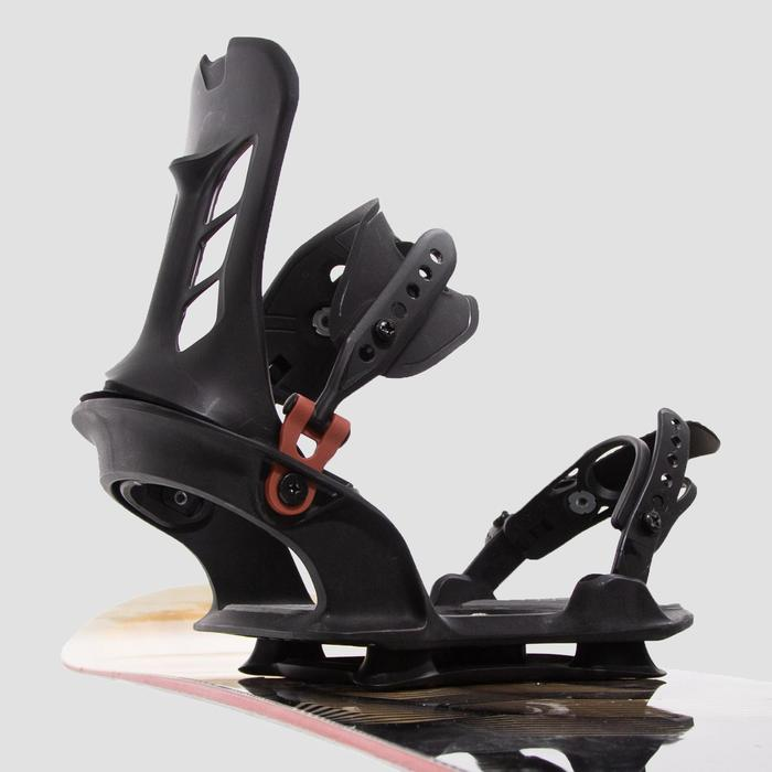 Snowboard Binding Extension Plate, Carving Booster - Black.