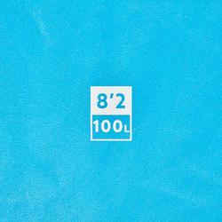 """泡棉衝浪板(附腳繩及3片板舵) 100 8'2""""。"""