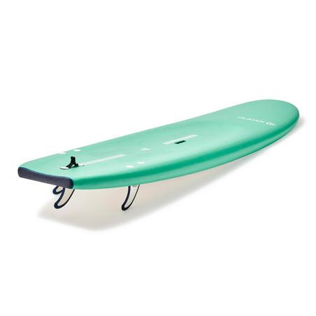 Planche de surf en mousse100 de 7,5pi avec attache et 3ailerons.