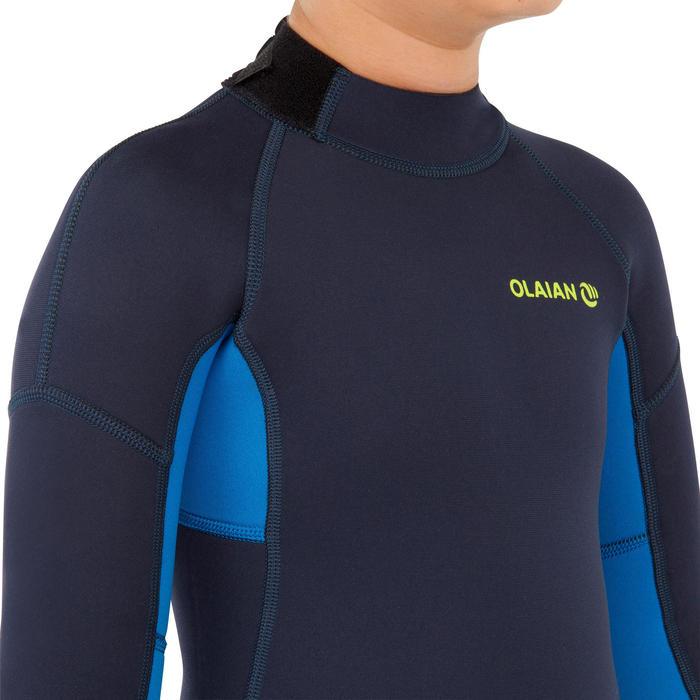 兒童款2/2 mm全身防寒衣-軍藍色