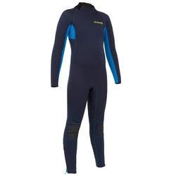 Wetsuit kind 100 2/2 marineblauw