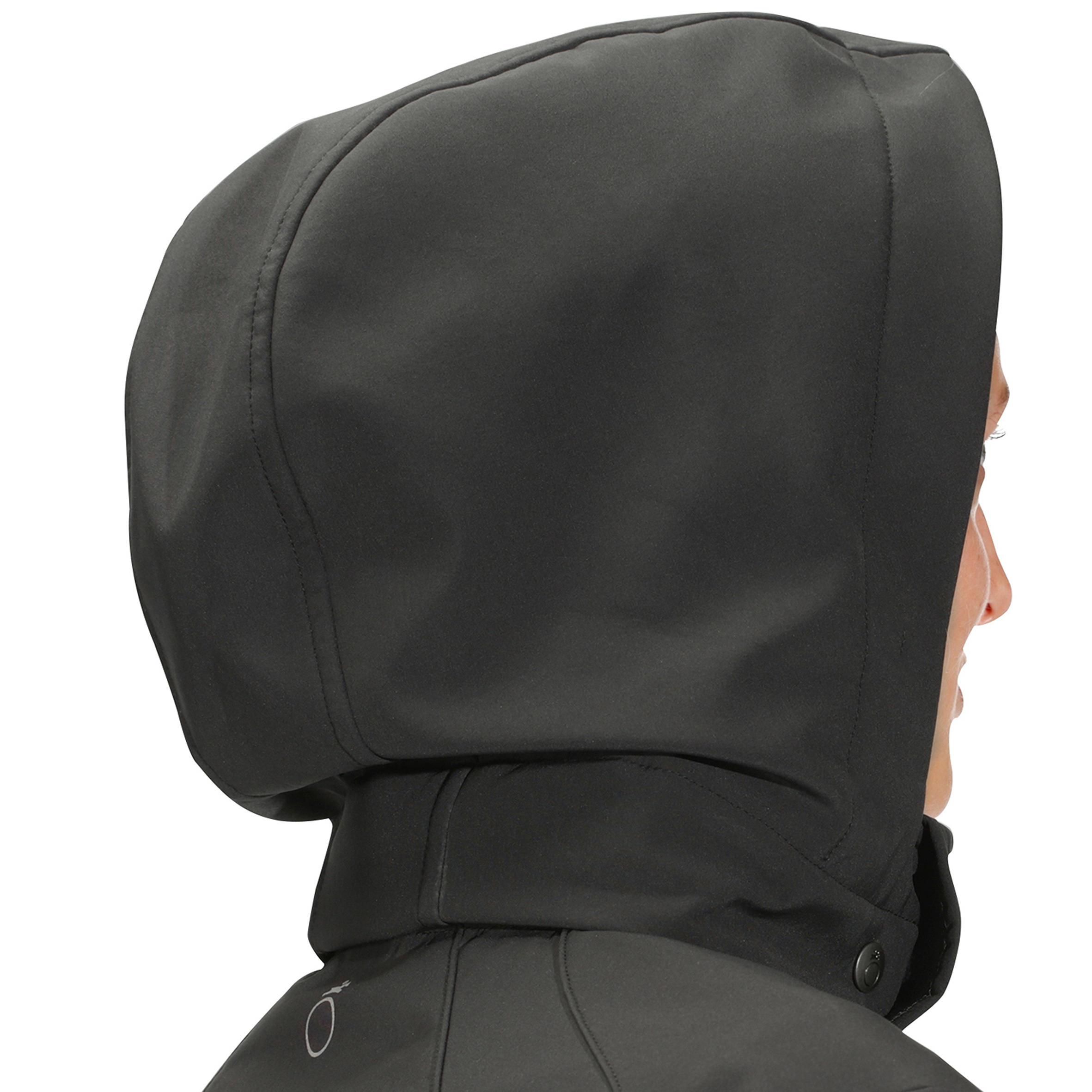Softshell 700 Women's Horse Riding Hooded Jacket Dark-Grey