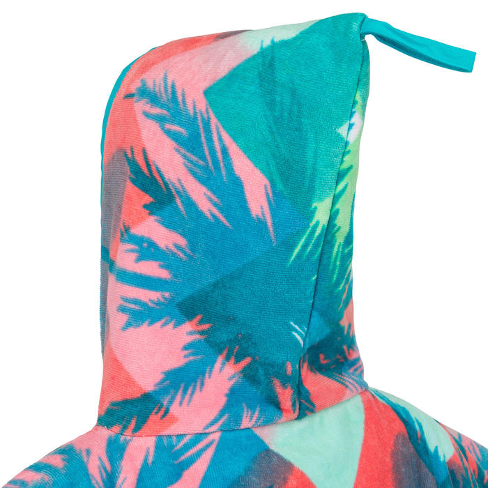 Kids' Surf Poncho 500 (110 to 135 cm) - Sweet