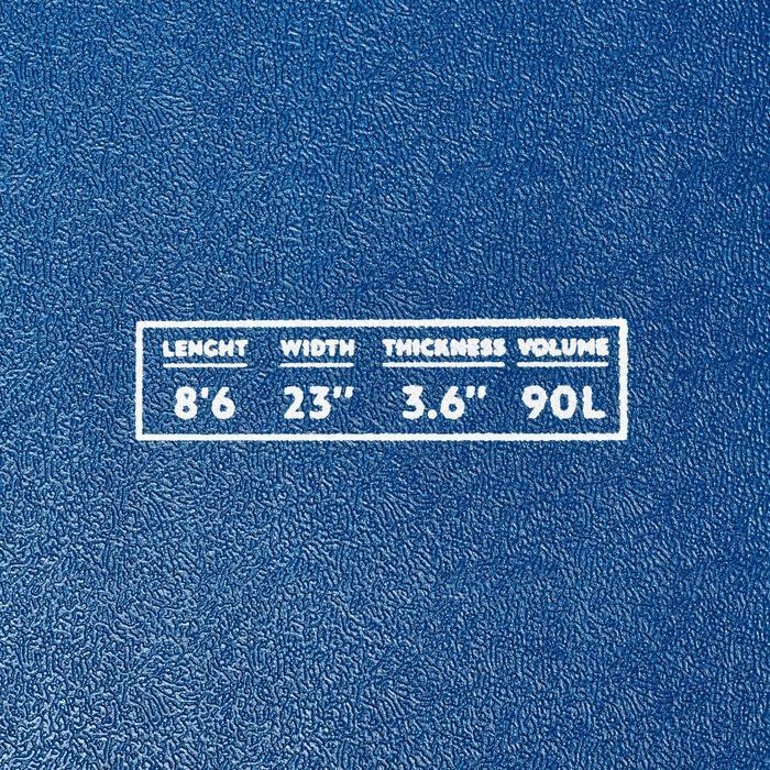 Tabla de Surf Malibú de Espuma 500 8'6. Se entrega con 1 leash y 3 quillas.