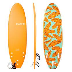Surfboard 500 Schaumstoff Soft 6' inkl. Leash und 3 Finnen