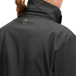 Veste à capuchon équitation femme 500 COQUILLE SOUPLE gris foncé
