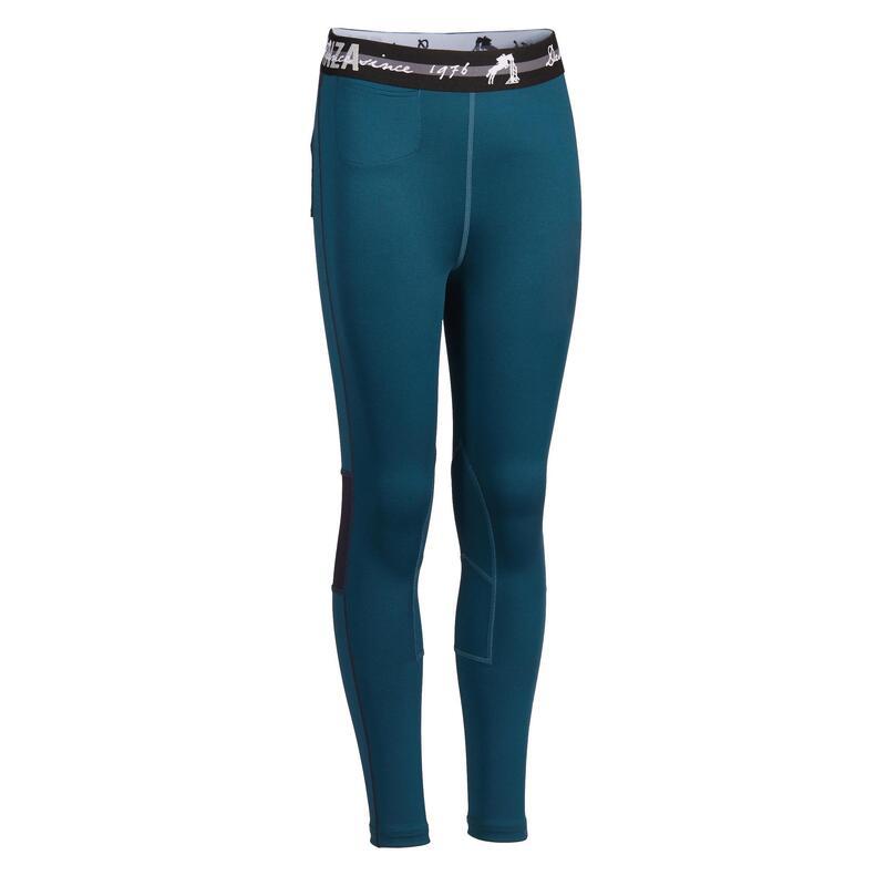Pantalon Echitaţie 100 LIGHT Bleumarin/Albastru Copii