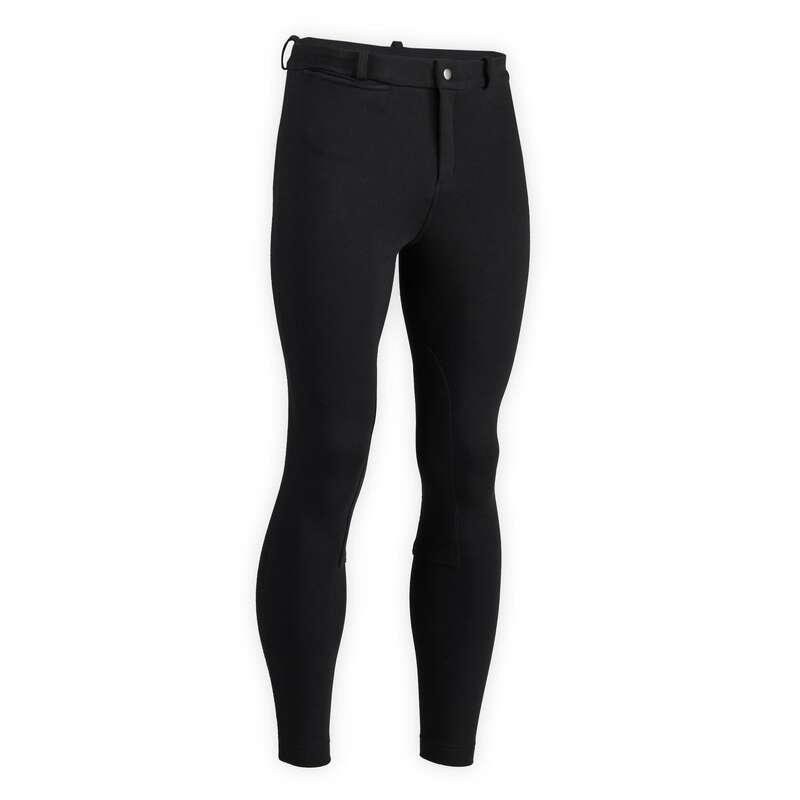Ridkläder Herr Ridsport - Byxa 100 svart FOUGANZA - Ridkläder - Herr