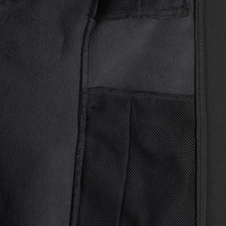 Куртка 500 для кінного спорту, зі софтшелу - Темно-сіра