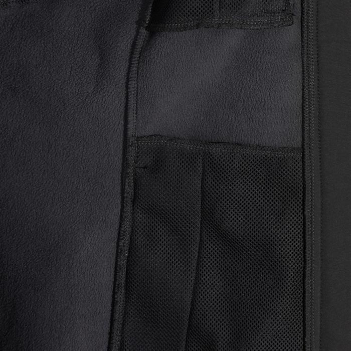 Chaqueta con capucha equitación mujer Softshell 700 Gris oscuro