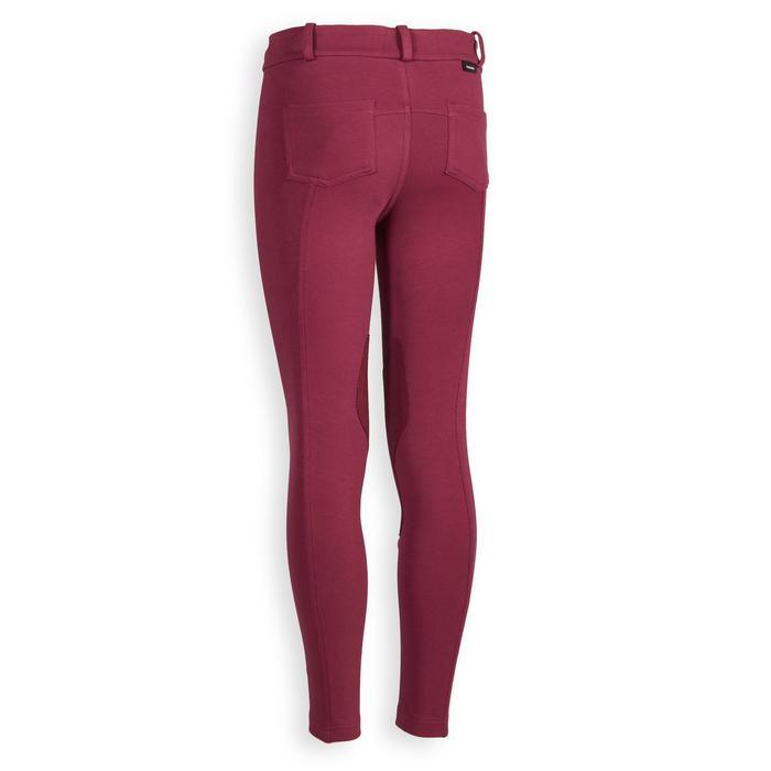 Pantalon équitation enfant 140 prune