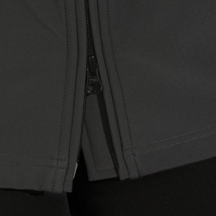 Jas Softshell 500 met kap ruitersport dames donkergrijs