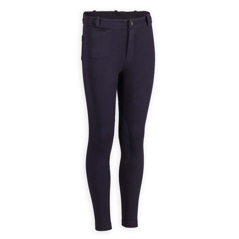 KID RIDING WEAR Horse Riding - Jodhpurs 140 - Navy Blue FOUGANZA - Horse Riding Clothes